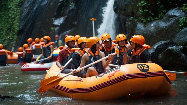 Ayung River Rafting Red Paddle 3