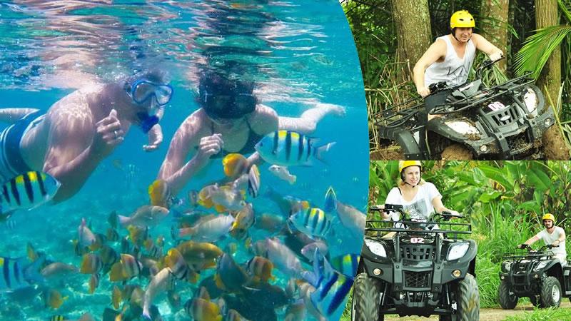 bali snorkeling + ATV ride bongkasa